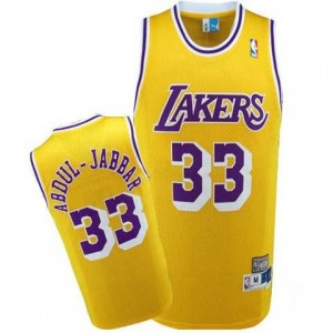 Canotte Abdul Jabbar,Los Angeles Lakers Giallo