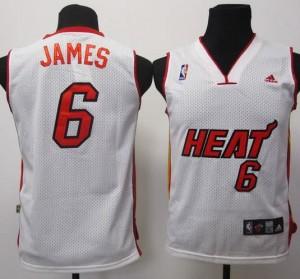 Canotte Bambini James,Miami Heats Bianco