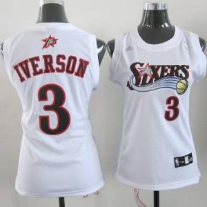 Canotte Donna Iverson,Philadelphia 76ers Bianco