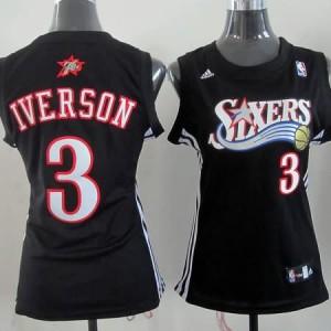 Canotte Donna Iverson,Philadelphia 76ers Nero