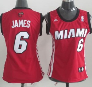 Canotte Donna James,Miami Heats Rosso