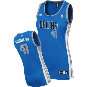 Canotte Donna Nowitzki,Dallas Mavericks Blu
