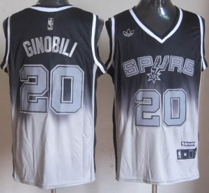 Canotte NBA Fadeaway Moda Ginobili Nero Bianco