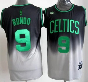 Canotte NBA Fadeaway Moda Rondo Nero Bianco