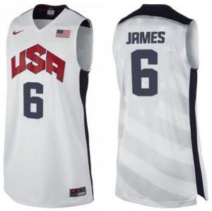 Canotte James,USA 2012 Bianco
