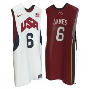 Canotte James,USA 2012 Bianco Rosso