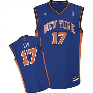 Canotte Rivoluzione 30 Jeremy Lin,New York Knicks Blu