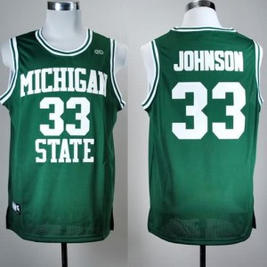 Canotte NCAA Johnson,Michigan state Verde