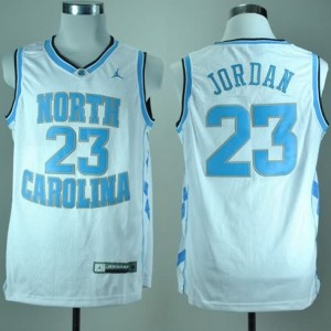 Canotte NCAA Jordanh,North Carolina Bianco