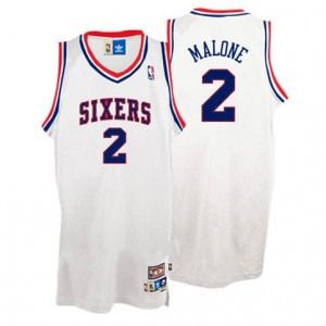 Canotte Malone,Philadelphia 76ers Bianco
