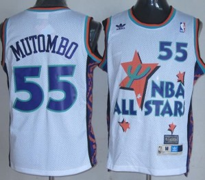Canotte NBA Mutombo,All Star 1995 Bianco