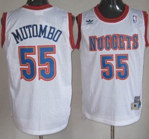 Canotte Mutombo,Denver Nuggets Bianco