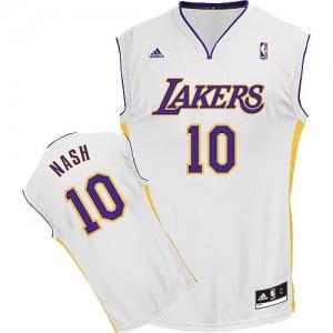 Canotte Rivoluzione 30 Nash,Los Angeles Lakers Bianco