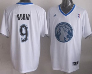Canotte NBA Natale 2013 Rubio Bianco