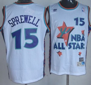 Canotte NBA Sprewell,All Star 1995 Bianco