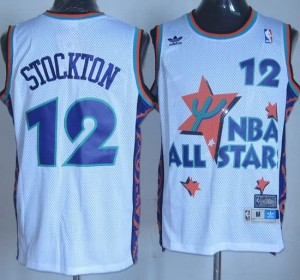 Canotte NBA Stockton,All Star 1995 Bianco