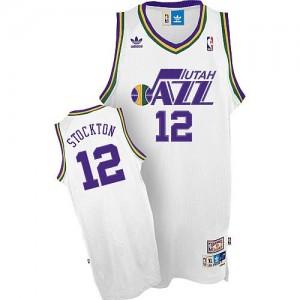 Canotte Stockton,Utah Jazz Bianco