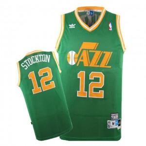Canotte Stockton,Utah Jazz Verde