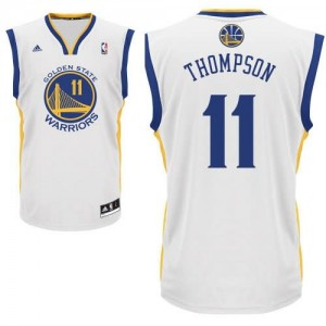 Canotte Rivoluzione 30 Thompson,Golden State Warriors Bianco