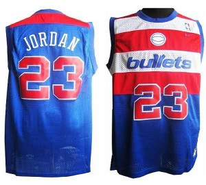 Canotte retro Jordan,Washington Wizards Blu