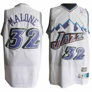 Canotte retro Malone,Utah Jazz Bianco