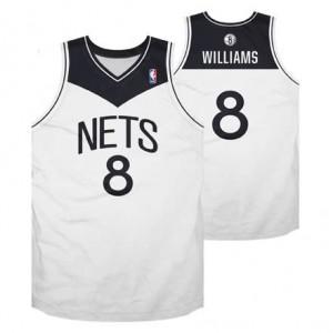 Canotte Rivoluzione 30 retro Williams,Brooklyn Nets Bianco