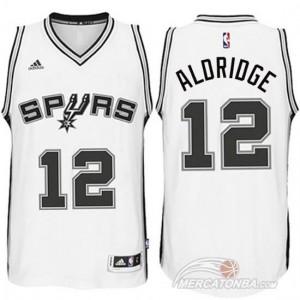 Canotte Aldridge,San Antonio Spurs Bianco