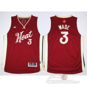 Canotte Bambini Wade,Miami Heats Rosso