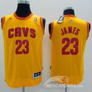 Canotte Bambini James,Cleveland Cavaliers Giallo