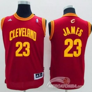 Canotte Bambini James,Cleveland Cavaliers Rosso