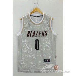 Canotte NBA Luces Blazers Lillard Grigio