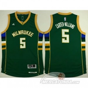 Canotte Carter-Williams,Milwaukee Bucks Verde