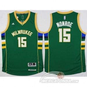 Canotte Monroe,Milwaukee Bucks Verde