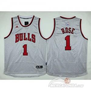Canotte NBA Moda Bulls Rose Grigio