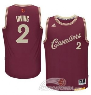 Canotte Irving Christmas,Cleveland Cavaliers Rosso