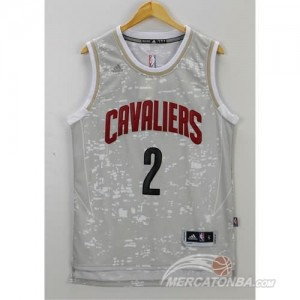 Canotte NBA Luces Cavaliers Irving Grigio
