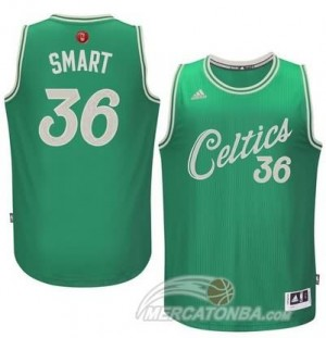 Canotte Smart Christmas,Boston Celtics Verde