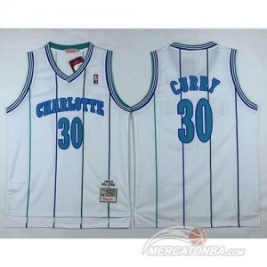 Canotte Charlotte Curry,New Orleans Hornets Bianco