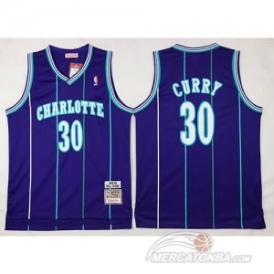 Canotte Charlotte Curry,New Orleans Hornets Porpora