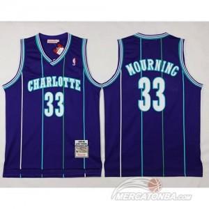 Canotte Charlotte Mourning,New Orleans Hornets Porpora