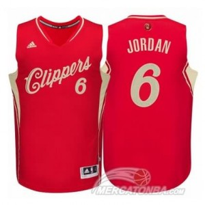 Canotte Jordan Christmas,Los Angeles Clippers Rosso