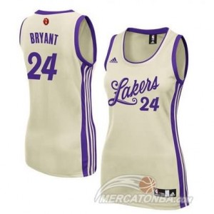 Canotte Donna Bryant Christmas,Los Angeles Lakers Bianco