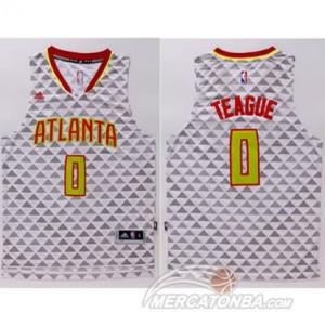 Canotte Teague,Atlanta Hawks Bianco