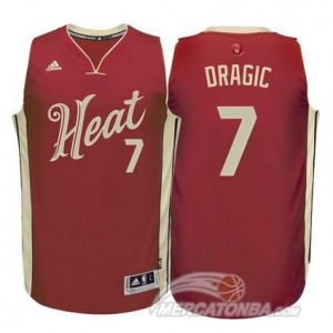 Canotte Dragic Christmas,Miami Heats Rosso