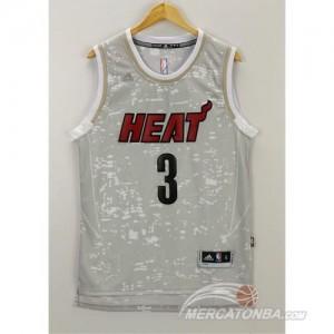 Canotte NBA Luces Heat Wade Grigio