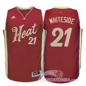 Canotte Whiteside Christmas,Miami Heats Rosso