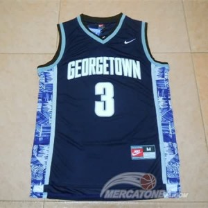 Canotte NCAA Iverson,George Town Blu