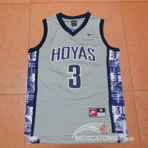 Canotte NCAA Iverson,George Town Grigio