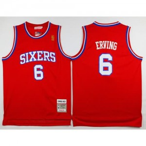 Canotte Julius Erving,Philadelphia 76ers Rosso