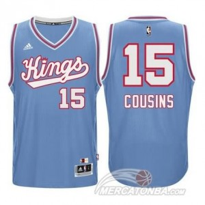 Canotte Cousins,Sacramento Kings Blauw